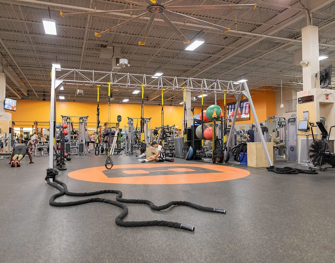 functional training area in modern gym
