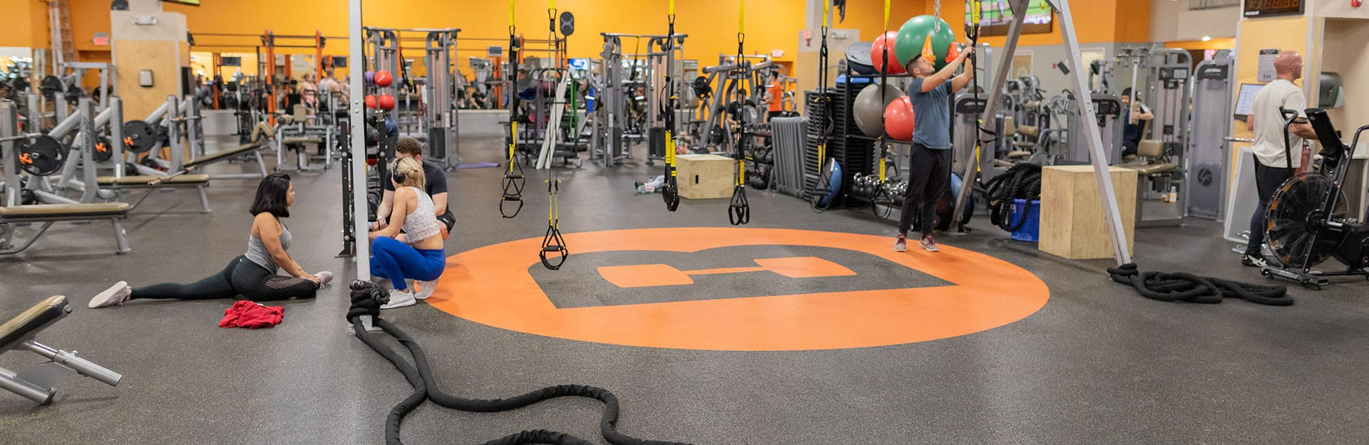 functional training equipment in modern spacious gym